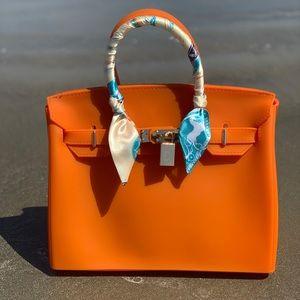 Handbags - Orange Jelly Waterproof Handbag